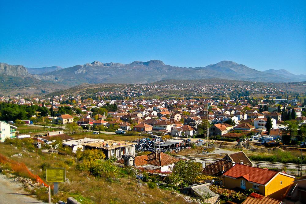 Blick über Podgorica