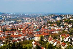Blick über das Stadtzentrum von Stuttgart