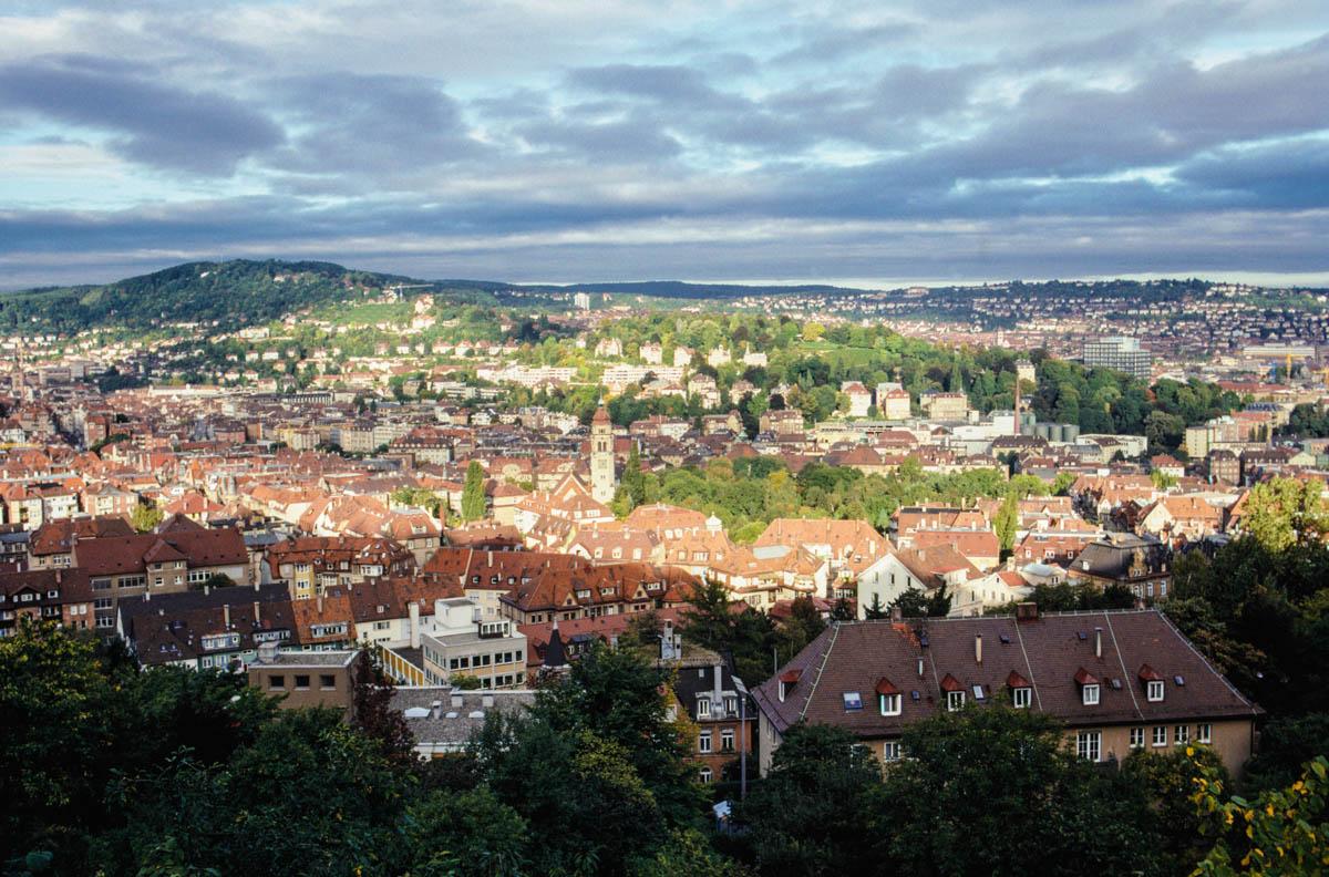 Blick über Stuttgart - Panorama